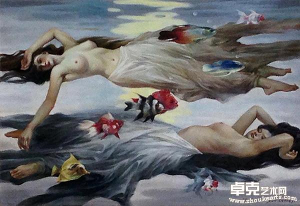 《漂浮》油画140Cm㐅110Cm